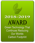 2018-2019 AWARD  Green Technology That Continues Reducing Our Worlds Carbon Footprint